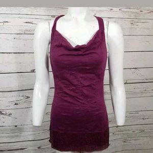 Lily White Blouse Purple Sleeveless sequin S